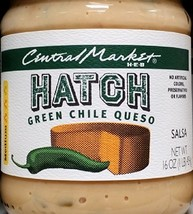 Central Market HEB Salsa 16 Oz (Pack of 2) (Hatch Green Chili Queso - Medium) - $27.32