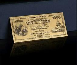 "1875 ""GOLD""$1,000 1ST National BANK Of SALEM Banknote~AWESOME DE - $10.10"