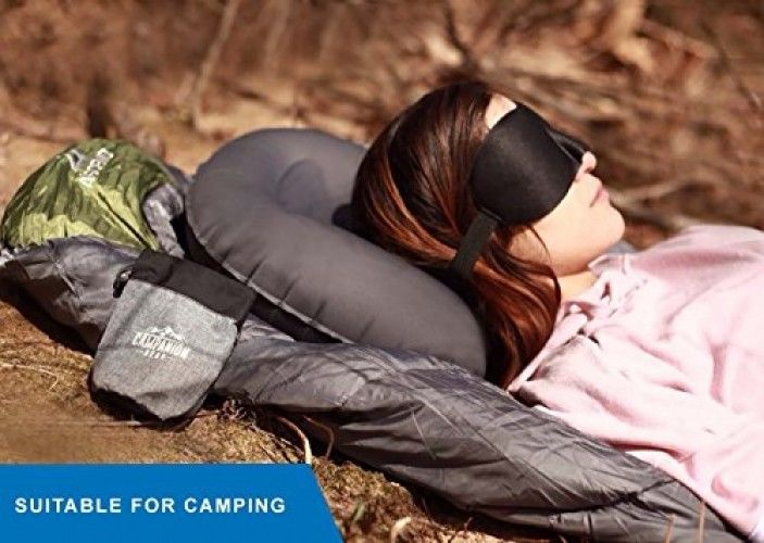 Campanion Gear UltraLight Camping Pillow - Compressible, Compact, Inflatable, A