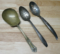 3 Rogers Bros. IS Flair 1847, Floral, & Brown Silver Co. Spoons  - $29.69
