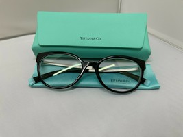 Tiffany & Co TF2191 8055 BLACK/BLUE Rx Eyeglass Frames 51-18-140 Brand New - $116.09