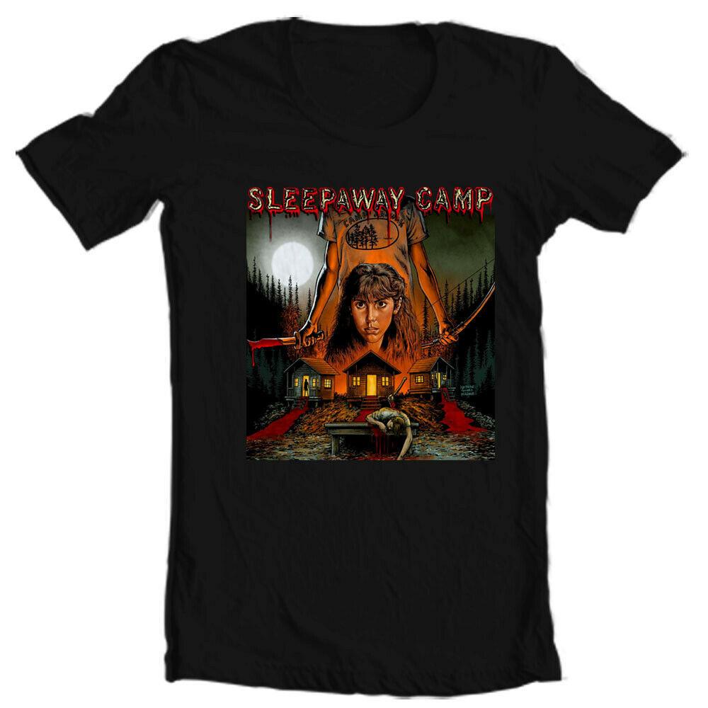 Sleepaway Camp T Shirt retro horror 1980s slasher movie 100% cotton graphic tee