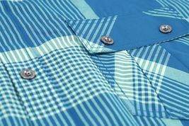 Men's Short Sleeve Cowboy Button Down Casual Plaid Pattern Western Dress Shirt image 8