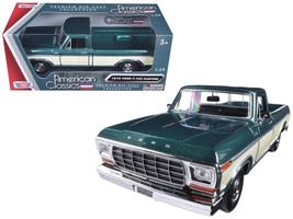 1979 Ford F-150 Pickup Truck 2 Tone Green/Cream 1/24 Diecast Model Car b... - $36.94