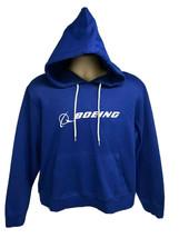 Boeing Pullover Blue Graphic Hoodie Sweatshirt 2XL XXL Spell Out Cotton ... - $69.29