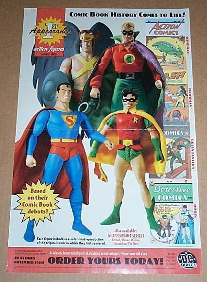 Primary image for DC 1st Appearance action figures toy poster:Hawkman/Superman/Green Lantern/Robin