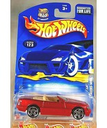 2003 Hot Wheels Mainline/Collector #123 MERCEDES 500SL Red w/Chrome Pr5 ... - $9.25