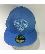 NBA New York Knicks New Era 59Fifty Light Blue Fitted Size 7 1/2 Cap Hat - $34.65