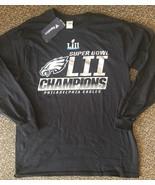 New PHILADELPHIA EAGLES LONG SLEEVE SUPER BOWL CHAMPIONS T SHIRT NFL - $29.99