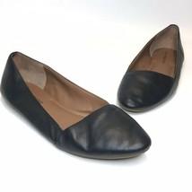 Lucky Brand | Size 8M Leather Asymmetrical Ballet Flat Black Archh Flats  - $17.88