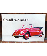 "VW Volkswagen Beetle Small Wonder Metal Sign 16""X10"" by Desperate Enterp... - $23.36"