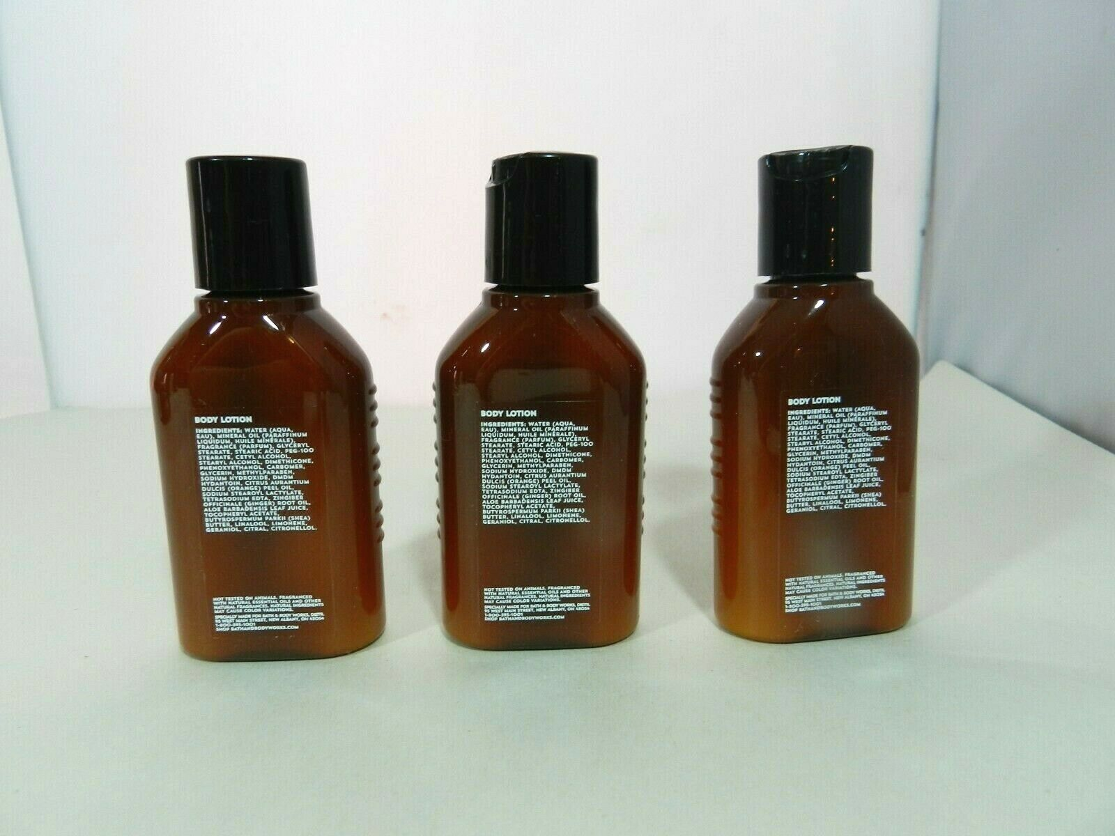 3 Bath & Body Works AROMATHERAPY ENERGY Hand & Body Lotion Travel Size