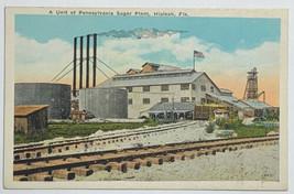 Old White Border Postcard A Unit of Pennsylvania Sugar Plant, Hialeah, F... - $34.25