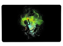 Rick Morty Art Large Mouse Pad 10x16 12x18 14x24 18x36 Extended Placemat... - $16.50+