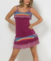 Size Large Purple Ruffled  Sleeveless Dress - $14.03