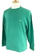 Polo Ralph Lauren Men's Long Sleeve Crewneck Thermal Green Shirt XXL 2XL - $20.78