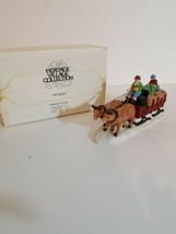 DEPARTMENT 56 THE HERITAGE VILLAGE COLLECTION OX SLED #5951-0 w/box - $19.01