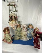Porcelain Dolls Collectable Lot of 7 - $39.59