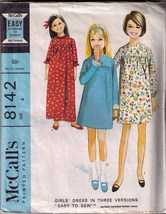 "Vintage 1965 McCall's #8142 ""EASY TO SEW"" Girl's Dress, Size 4 - $9.99"