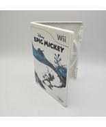 Disney Epic Mickey (Nintendo Wii, 2010) (Very Good) Box Only W/ Manual - $3.27