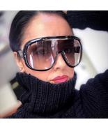 2019 Futuristic oversized one piece sunglasses women brand designer flat... - $74.88