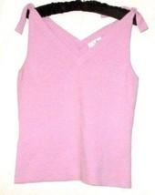 New Ann Taylor Loft Pink Knit Double V Neckline Tank Size M - $11.00