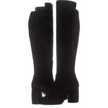 Nine West Kerianna Knee High Pull-On Boots 501, Black/Black Suede, 9 US - €36,09 EUR
