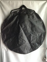 "33"" Flat Round Black Lightweight Vinyl Tote Bag Handles New Without Pack... - $10.73"