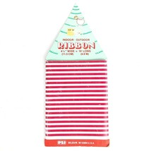 """Vintage Plastic Candy Striped Christmas Ribbon - Indoor / Outdoor 4.5"""" x... - $12.61"""