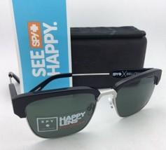 Polarisierend Spy Optic Crosstown Sonnenbrille Faltenbalg Schwarz & Silber W/ - $199.57