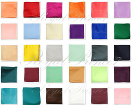 "Colors Solid Pocket Square Hankie Handkerchief Wedding Formal Prom 10"" x... - $3.98"