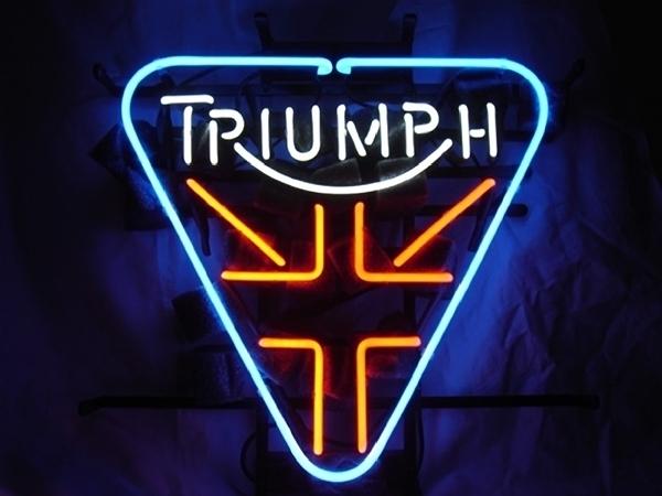 triumph british motor beer bar neon light sign 16 14