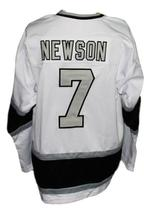Custom Name # New Haven Nighthawks Retro Hockey Jersey 1980 New White Any Size image 4