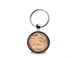 San Diego Map Keychain - $12.95