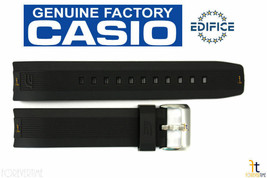 CASIO EQW-M600C Edifice Original 22mm Black Rubber Watch Band Strap EQS-... - $42.95
