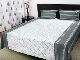 Double bedsheet with 2 pillow cloth 220 x 250 C... - $42.00