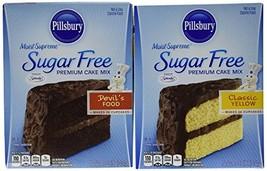 Pillsbury Sugar Free Cake Mix Value Bundle - 1 Box Sugar Free Devil's Food Cake