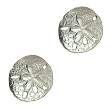 925 STERLING SILVER SAND DOLLAR POST EARRINGS   Taxco Mexican Jewelry - $29.95