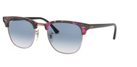 Ray ban Clubmaster Sonnenbrille RB3016F 12573F 55 Gepunktet Grau Violett W/ Blau - $181.80
