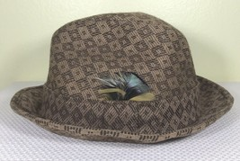Resistol 7 1/4 Fedora 100% Wool Hat Brown Pattern Snap-Back Crushable Fe... - $56.09