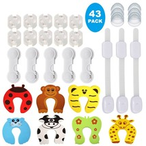 43 Pcs Baby Proofing Safety Products Home Cartoon Door Stopper Safety Lo... - $24.99