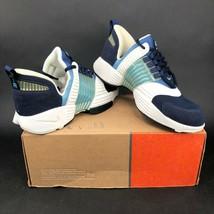 Nike Air Trainer Swift Womens 10 White Navy Blue Running Training Shoes ... - £45.69 GBP