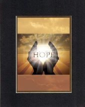 Motivational Poems  Hope. . . 8 x 10 Inches Biblical/Religious Verses set in Dou - $11.14