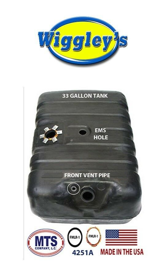 PLASTIC FUEL TANK MTS 4251A FITS 78-79 FORD BRONCO 33GAL FRONT VENT PIPE