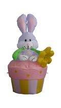 Easter Inflatable Rabbit Bunny Yard Flower Pot Spring Indoor Outdoor Dec... - $49.00