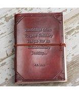 """Hardships And Extraordinary Journey"" Handmade Leather Journal - $40.00"