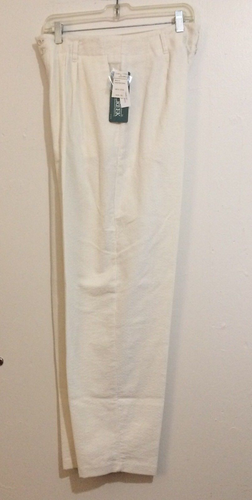 Cabin Creek Corduroy Mom Pants Size 14 Winter White Wide Wale Tapered Legs    $12.20
