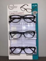 Used Foster Grant +1.75 Full-Frame Ladies 3 pack NO cases Design Optics ... - $10.40