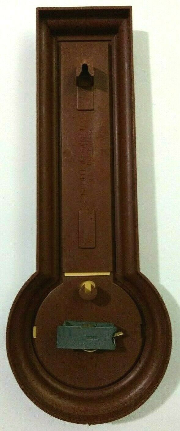 Springfield Instrument Co Thermometer Humidity Brown Plastic Made in USA image 4