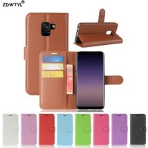 For Samsung Galaxy A8 2018 Case Wallet PU Leather Back Cover Phone Case ... - $5.62+